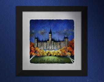 The University of Glasgow, and Beyond! Large framed.