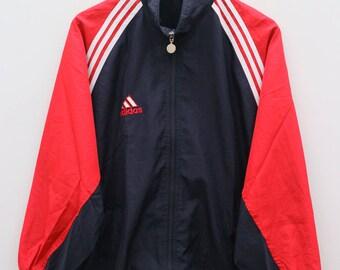 ADIDAS Treline Sportswear Small Logo Black Vintage Windbreaker