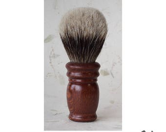 Leopardwood Handle, Handmade Men's Wet Shaving Brush, Shaving Brush for Men, Silver Tip Bristles, 26mm Knot, Gift for Him, OOAK, Exotic Wood