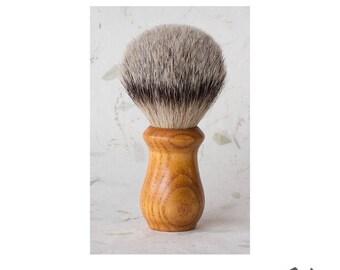 Ash Wood Handle, Handmade Wet Shaving Brush, Badger Fine Taper Bristles, 25mm Knot, Gift for Him, Men's Grooming, Gift for Husband, OOAK