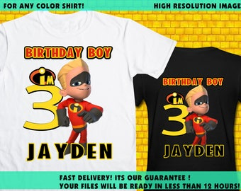 The Incredibles / Iron On Transfer / The Incredibles Boy Birthday Shirt Transfer DIY / The Incredible High Resolution 300 DPI / Digital File