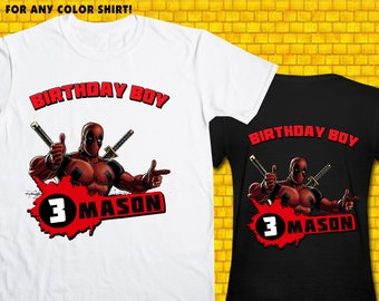 Deadpool / Iron On Transfer / Deadpool Birthday Shirt Transfer DIY / Deadpool High Resolution 300 DPI / Digital Files