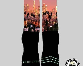LA Skyline Socks || FREE SHIPPING ||