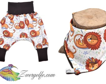 Baby Set bloomers scarf Lions (Biojersey)