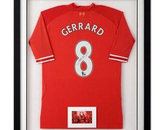 Autographed Soccer Jersey (Steven Gerrard - Liverpool)