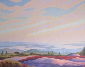 Essence of being, spiritual, awakening, landscape, horizon, evening sky