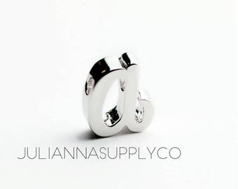 Silver Initial Letters A Charms Cursive
