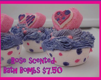 Valentines Day Cupcake Double Bath Bomb
