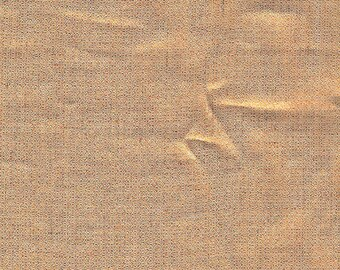 Metallic Copper Linen Fabric / Textiles / Fabric by the Yard