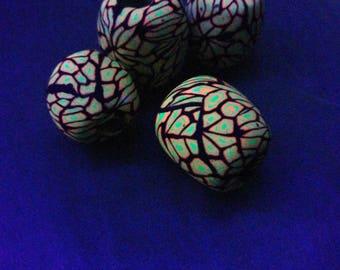 UV Active Blacklight/Black light Dreadlock Pearls Dreadperlen