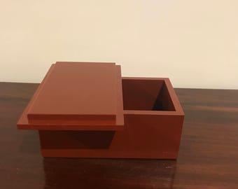 Plum jasper gemstone handmade box