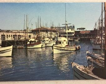 Vintage Postcard Fisherman's Wharf San Francisco, CA Alioto's Seafood Restaurant