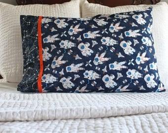 Astronaut pillow case, glow in the dark pillowcase, standard pillowcase, handmade pillowcase, pillowcase, astronaut, glow in the dark, NASA