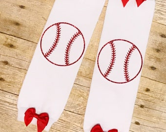 Baseball Leggings - Baby Girl Leggings - Baseball Girl Leggings