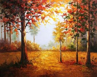 Painting Canvas 'Autumn Love'