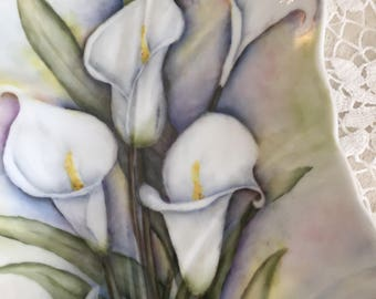 """18"""" Calla Lily China Hand Painted Porcelain Flowers"""