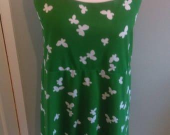 Vintage fifties green print dress size 16/18