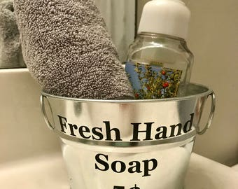 Farmhouse Hand Soap Dish Rustic Tin