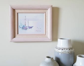 80s Pastel Sailboat Painting (Mexico)