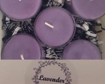 Lavender - Tea Lights, Set of Ten