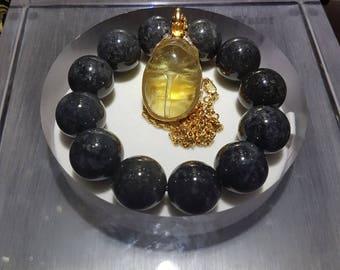 Libyan Gold Tektite Scarab