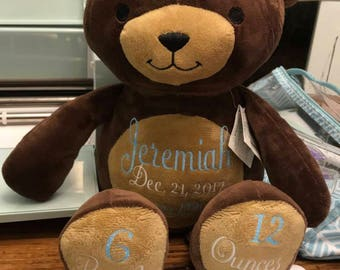 Personalized Birth Announcement Bears