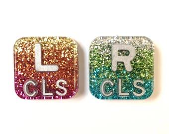 "1"" x 1"" Glitter X-Ray Markers"