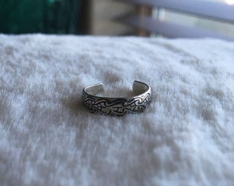 Toe Ring Sterling Silver Marked .925