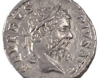 septimius severus denarius au(50-53) silver cohen #489 3.00