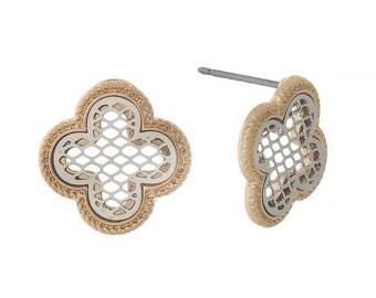 Quarterfoil Stud Earrings