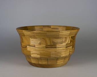 Segmented ash wood bowl