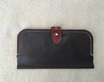 Handmade leather, long wallet