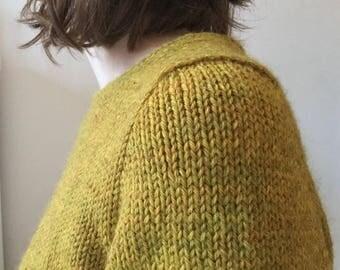 Seal-line Shoulder Method Crew Neck Sweater - Gauge 4 - Chunky