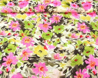 Floral print 6537 in nature with colourful floral print