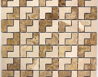 Mosaic stone jingle bath shower