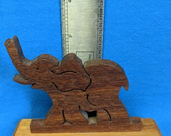Wooden Elephant on a stand