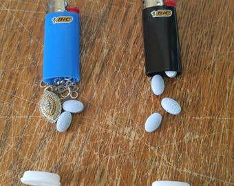 Bic mini Secret Stash lighter pocket diversion safe-pill container