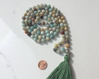 Love & Light Amazonite Mama 108 Beaded Necklace