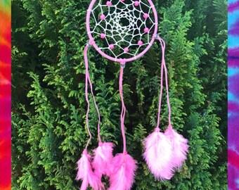 Pretty pink detailed dreamcatcher