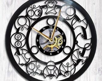 Gallifreyan Doctor Who Vinyl Wall Clock
