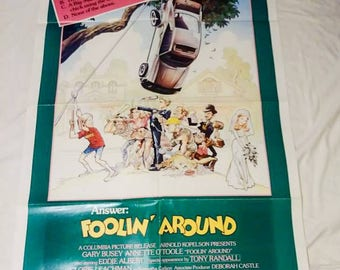 Original Vintage Foolin around movie poster