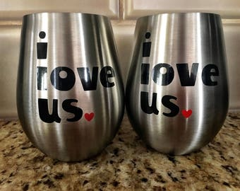 Custom stainless steel wine tumbler