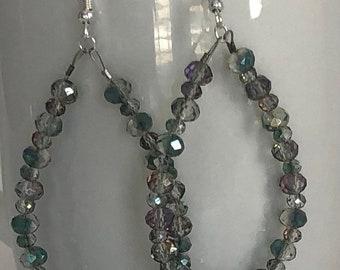 Smoky Crystal Earrings