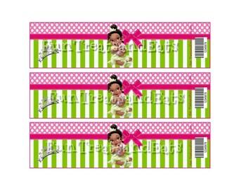 Princess Tiana Baby water bottle label