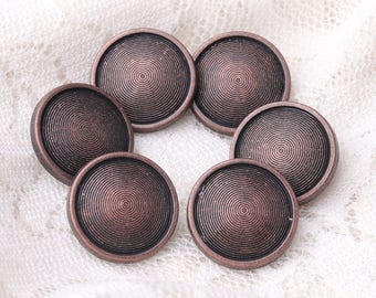 multi-circle spiral button 10pcs 15*7mm round zinc alloy button copper button shank button