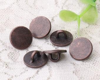 metal buttons 10pcs 12*6mm zinc alloy copper buttons shank buttons thin buttons shirt coat sewing buttons