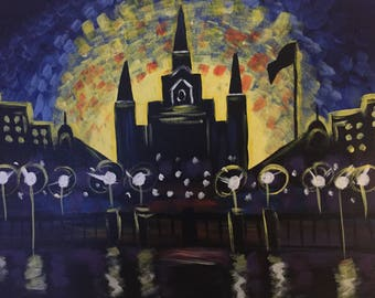 New Orleans St. Louis Cathedral Dancing In the Moonlight
