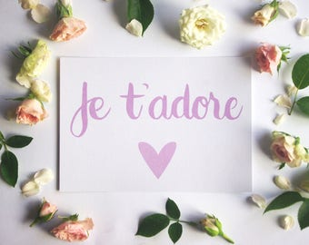 Je t'adore Greeting Card