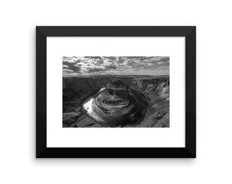 Framed horseshoe bend print
