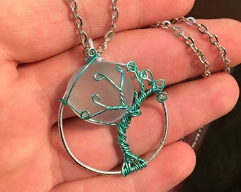 Full moon tree of life necklace